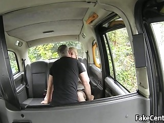Chubby Blonde Milf Fucked In Taxi