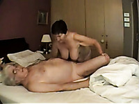 My Slutty Mature Wife Plays With My Dick And Her Big Tits