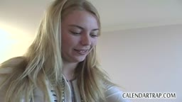 Blonde Gets A Facial After The Blowjob