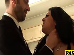 Bombastic Black Haired Slut Brooklyn Blue Fucks A Hard Cock