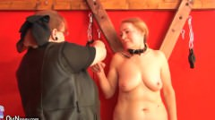 Old Granny Slave Is Whipped – BDSM Scene
