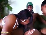 Fat Ass Black Chicks Deja Vue And Jordan Raines Sharing A Big Black Schlong