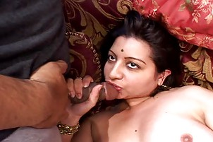 Chesty Indian Whore Swallows 2 Loads